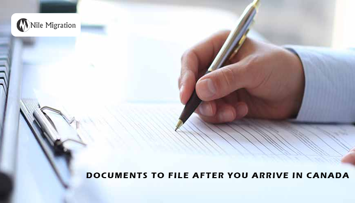 Documents to File after You Arrive in Canada copy